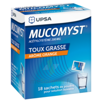 MUCOMYST 200 mg Poudre pour solution buvable en sachet B/18 à Agen