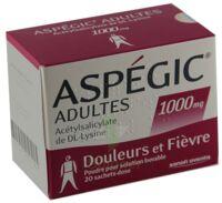 ASPEGIC ADULTES 1000 mg, poudre pour solution buvable en sachet-dose 15 à Agen