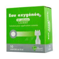EAU OXYGENEE 10 VOLUMES GILBERT, solution pour application cutanée en récipient unidose à Agen