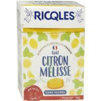 Ricqles Sucres Cuits Bonbon Citron mélisse sans sucre B/40g à Agen
